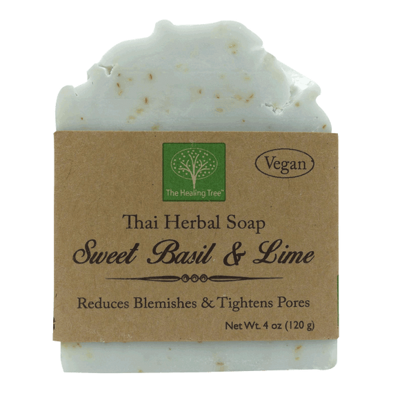 Vegan Handmade Soap | Sweet Basil & Lime for Skin Blemishes