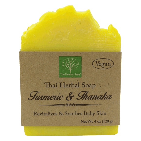 Vegan Handmade Soap - Turmeric & Thanaka | For Itchy Skin