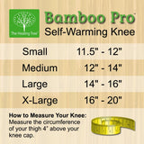 Self-Warming Knee Support | Bamboo Charcoal Technology