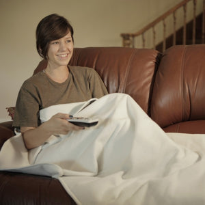 Total Relaxation Throw Blanket | Activates with Your Body Heat | No-Plug In