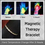 Magnetic Bracelet w/ Two-Tone Silver & Gold Face