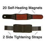 Self-Heating Back Support | Magnets & Tourmaline | Adjustable Fit