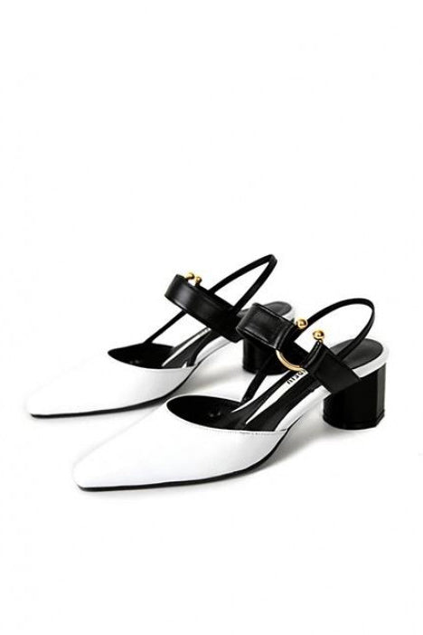 Salondeju 16105 Gold Ring Heel White/Black - Room 29