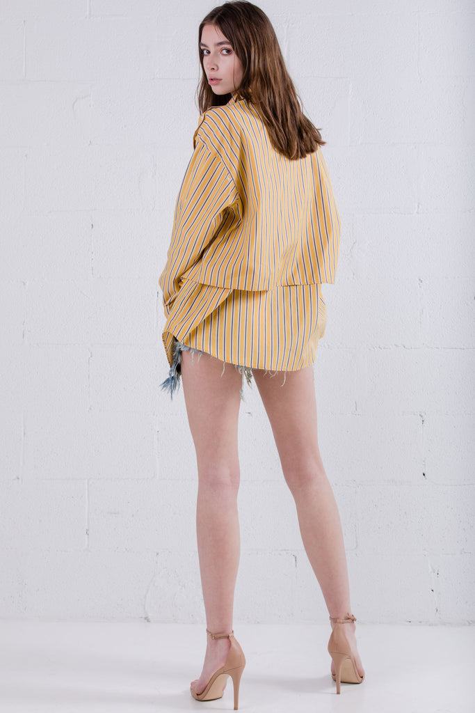 Devil Beauty Dual Layer Yellow Stripe Shirt - Room 29