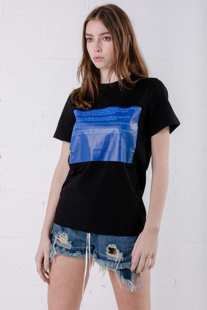 Devil Beauty Textbox Tee Black - Room 29