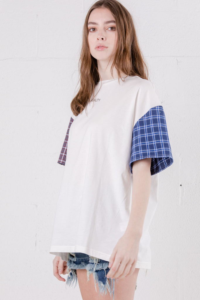 Devil Beauty White Quilted Tee - Room 29