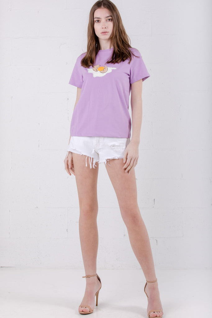Devil Beauty Egg Tee Purple - Room 29