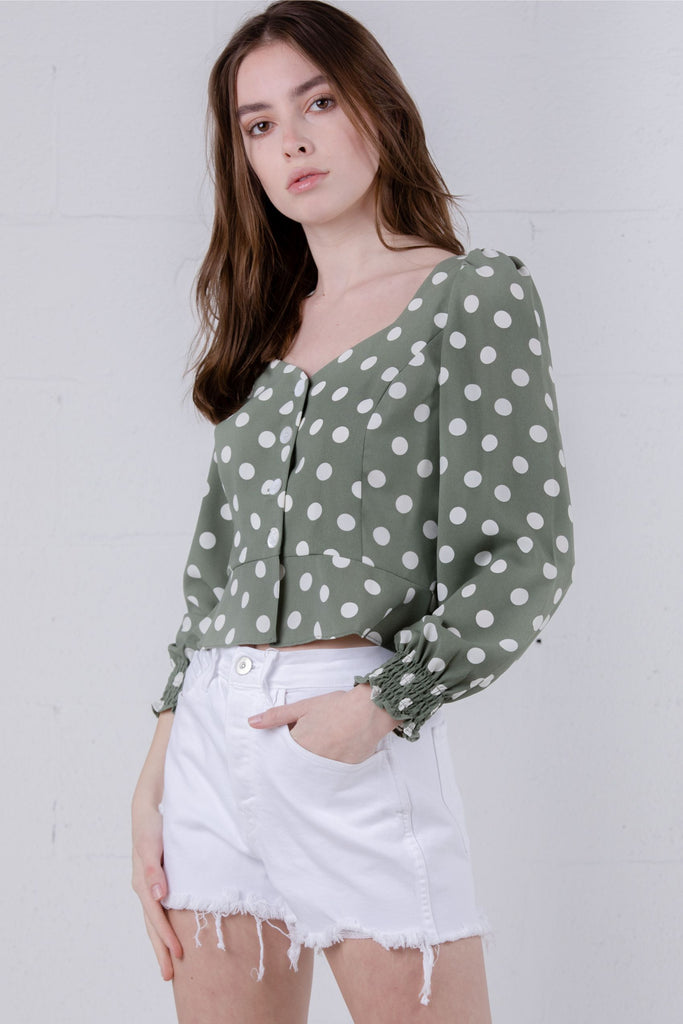Petite Studio Marjory Top Polka Dot - Room 29
