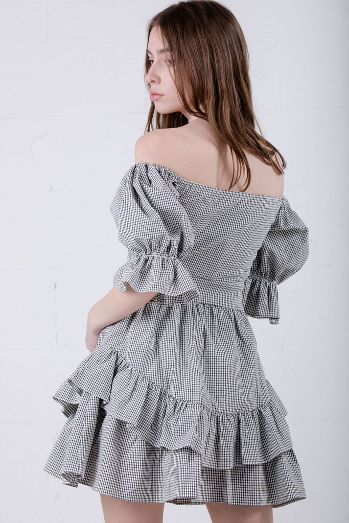 June Eleven Always A Lady Dress Plaid JE16-1663 - Room 29