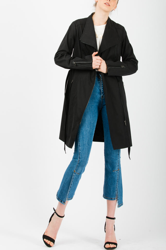 Andersson Bell Unbalanced Slit Crop Blue Jeans - Room 29