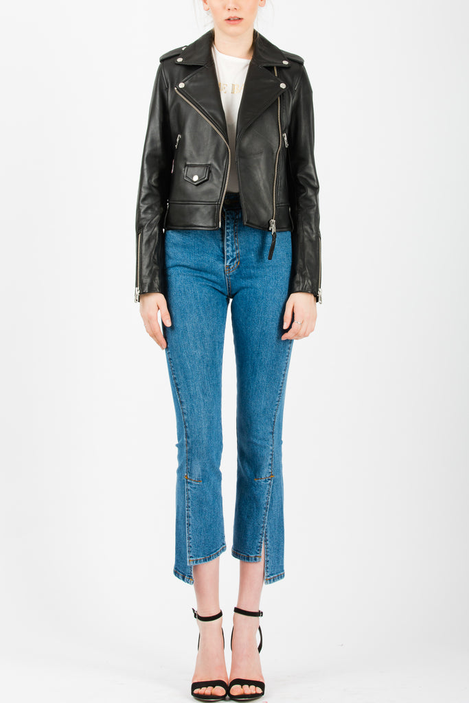 Mackage Baya Leather Jacket Black - Room 29