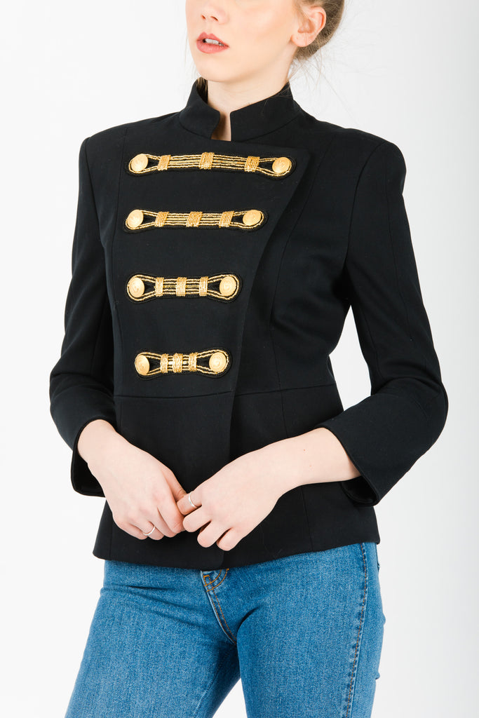 Pierre Balmain Embellished Twill Blazer Black - Room 29