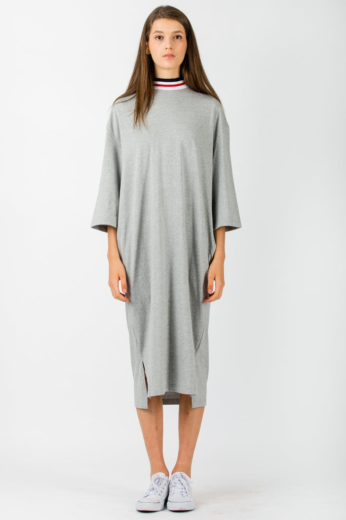 SJYP Knitted Color Neck Band Dress Grey - Room 29