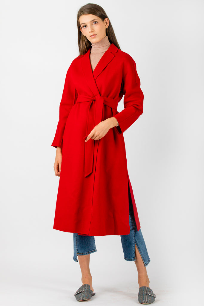 MaxMara Studio Notizia Coat Red - Room 29