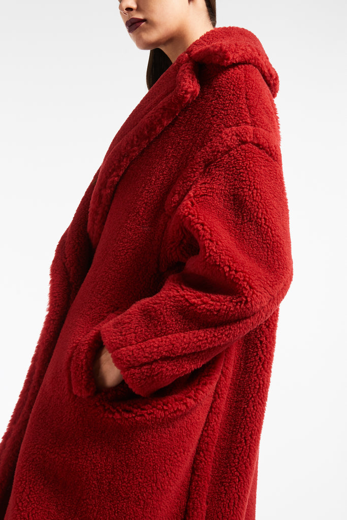 MaxMara Studio Teddy Coat Red
