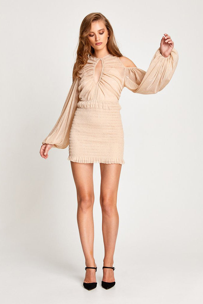 Alice McCall Spell Mini Dress Nude