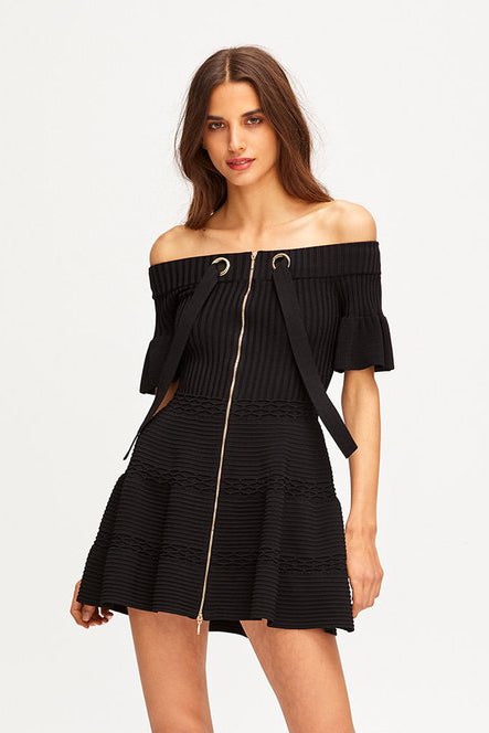 Alice McCall Don't Forget About Me Knit Dress Black - Room 29