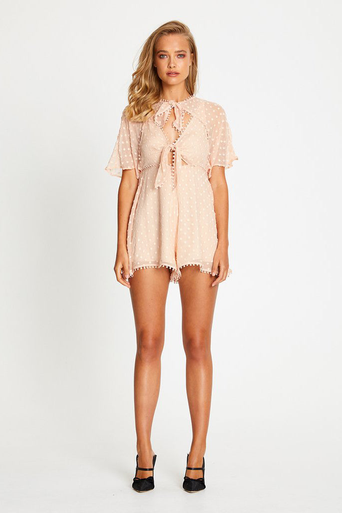 Alice McCall Moon Talking Playsuit Nude - Room 29