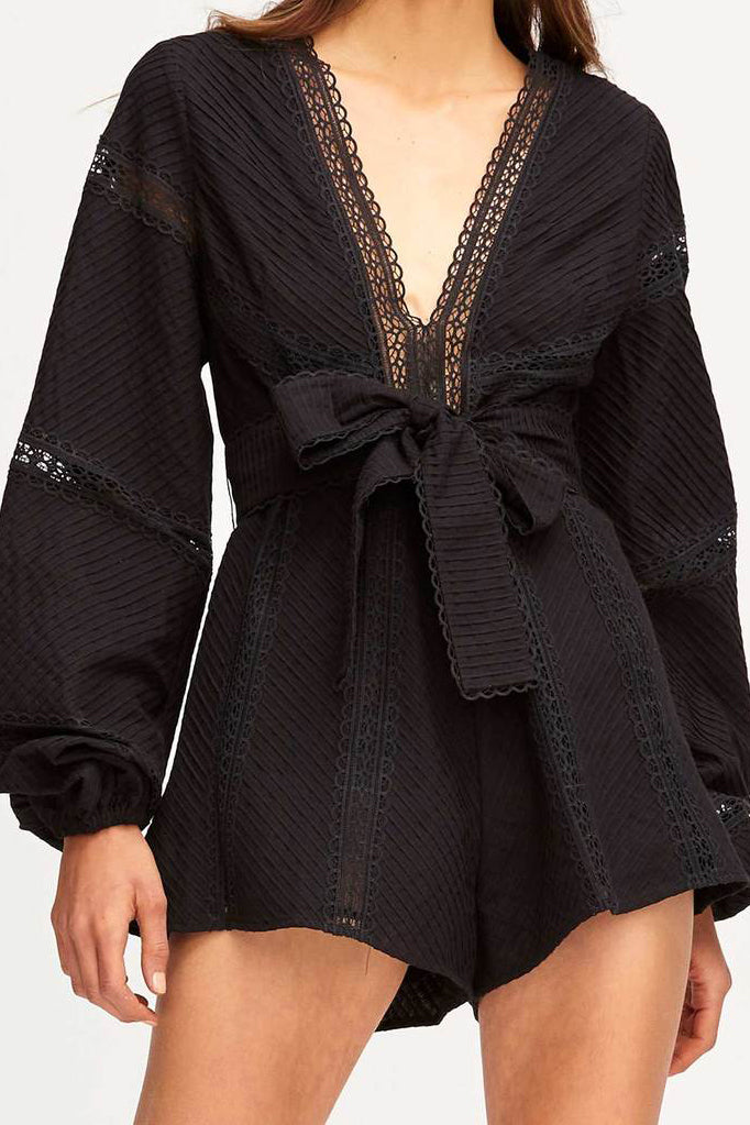 Alice McCall Foreign Affair Playsuit Black - Room 29