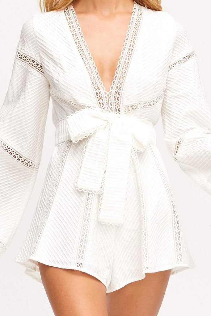 Alice McCall Foreign Affair Playsuit White - Room 29