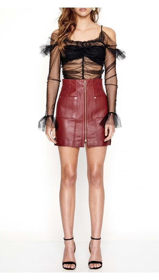 Alice McCall Make Me Yours Skirt Burgundy - Room 29