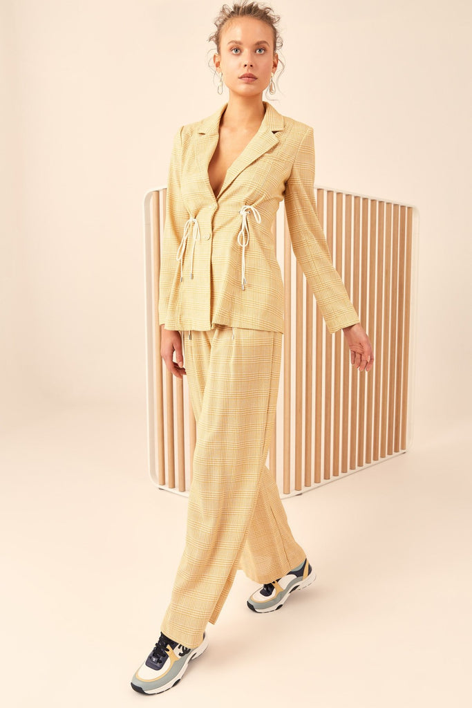 C/meo Collective Hopes Up Blazer Marigold Check - Room 29