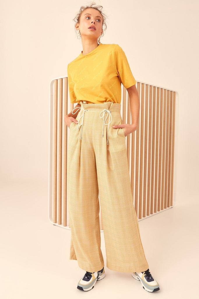 C/Meo Collective Hopes Up Pant Marigold Check - Room 29