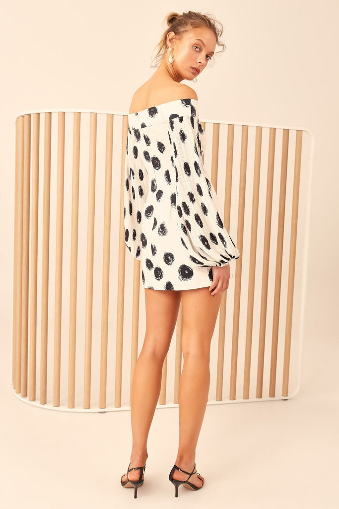 C/Meo Collective Only With You Mini Dress Chalk Spot - Room 29