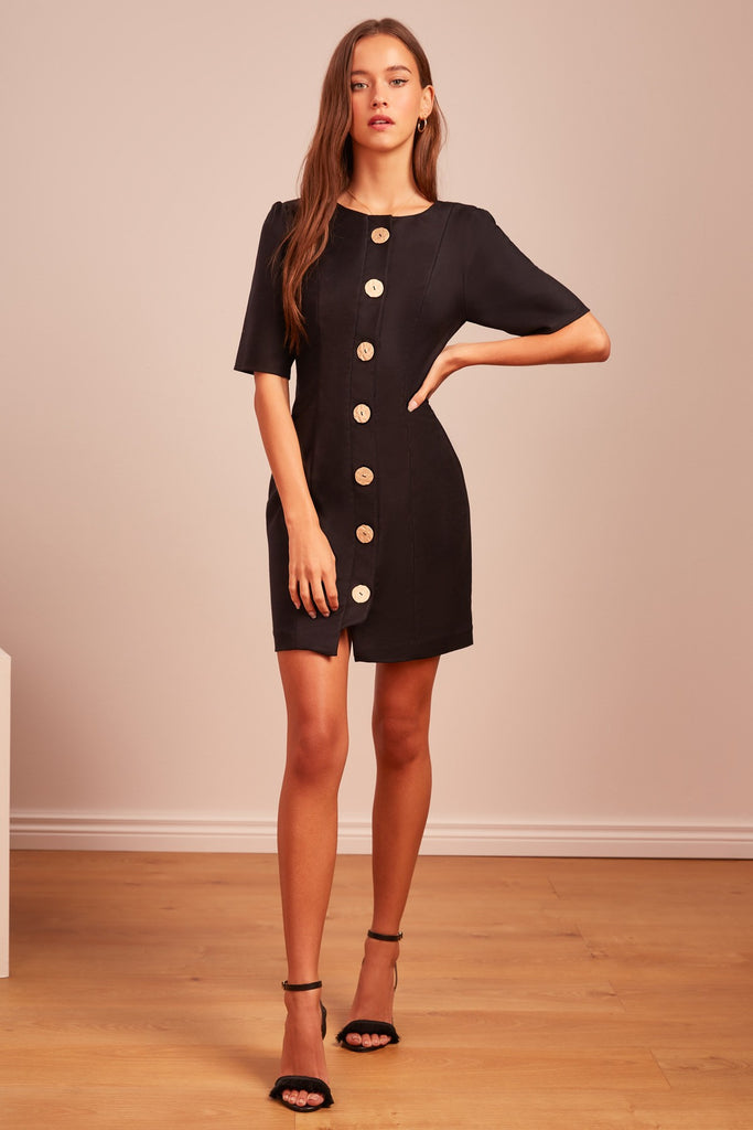 Finders Keepers Pompeii Mini Dress Black