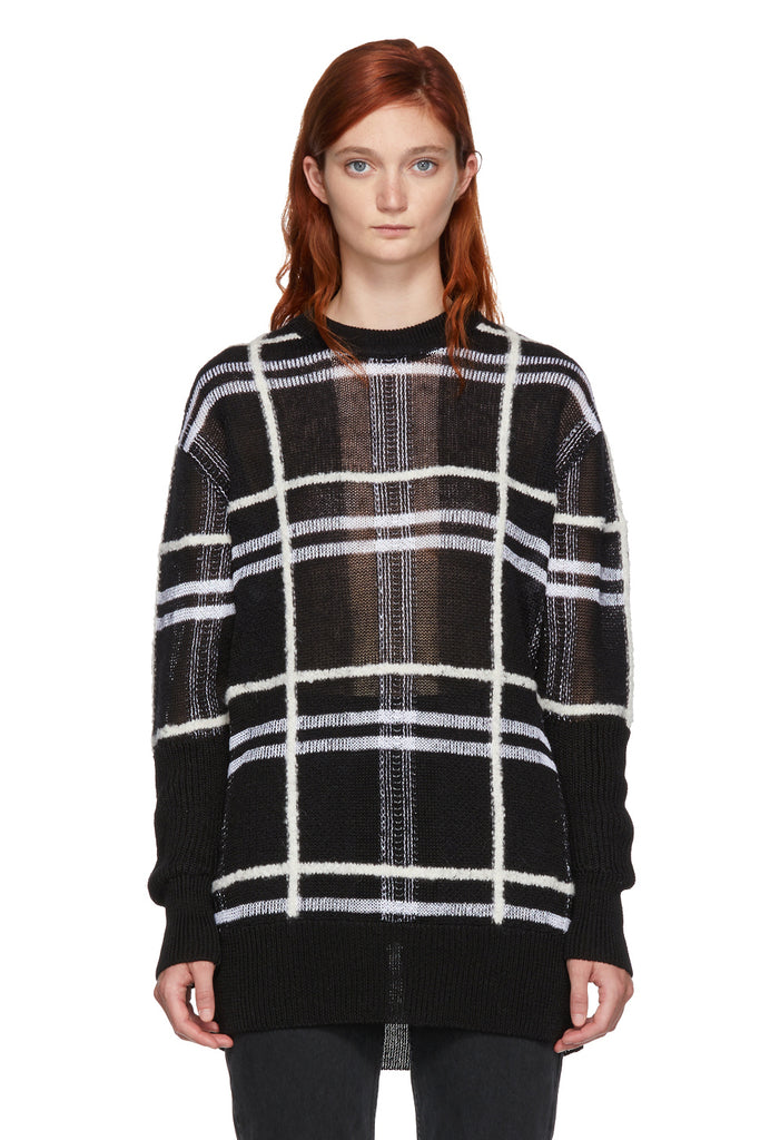 MCQ Patched Check Tunic Black/White - Room 29