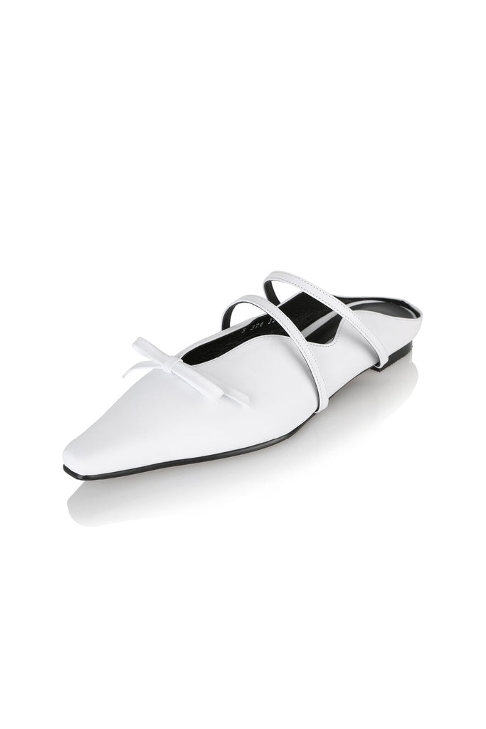 Yuul Yie Abel Bow Slipper 19RS-S374 White - Room 29