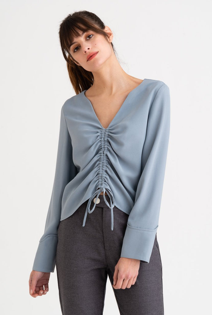 Petite Studio Stella Top Dusty Blue