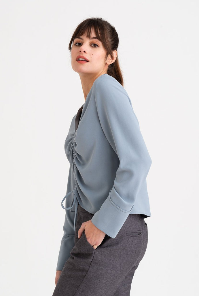 Petite Studio Stella Top Dusty Blue - Room 29