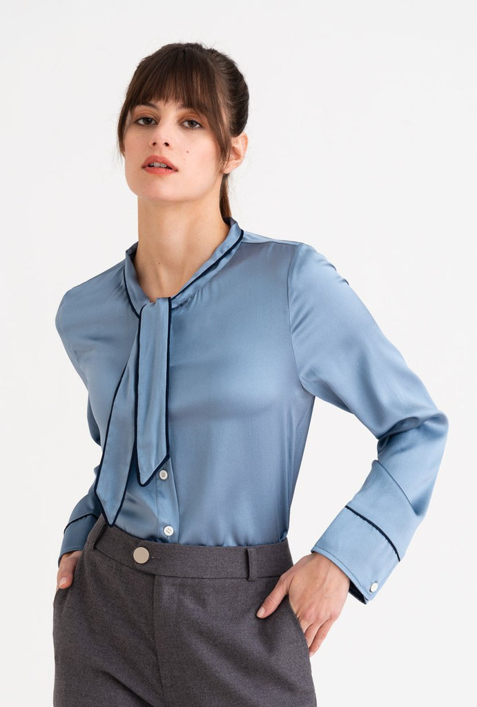 Petite Studio Charlotte Top Pigeon Blue - Room 29