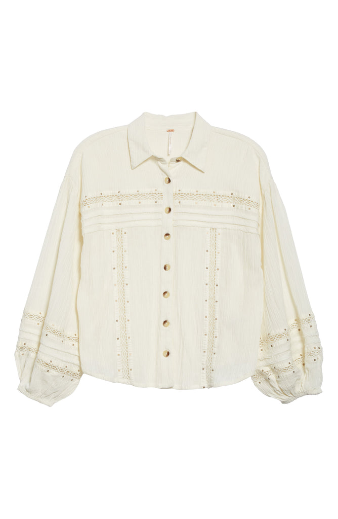 Free People Summer Stars Button-Down Ivory - Room 29