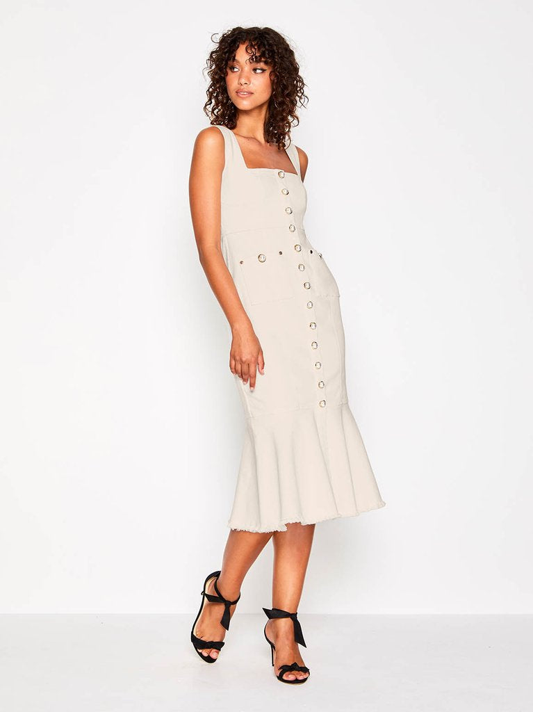 Alice Mccall Like I Do Dress Frayed Denim Creme - Room 29