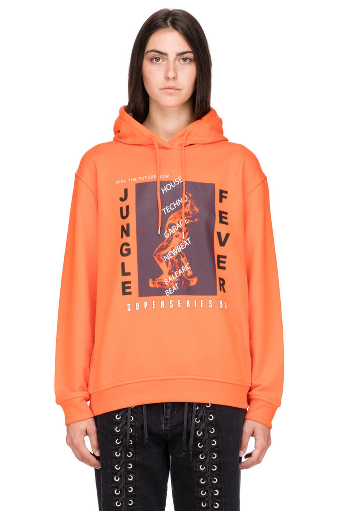 MCQ Boyfriend Hoodie Jungle Fever Orange - Room 29