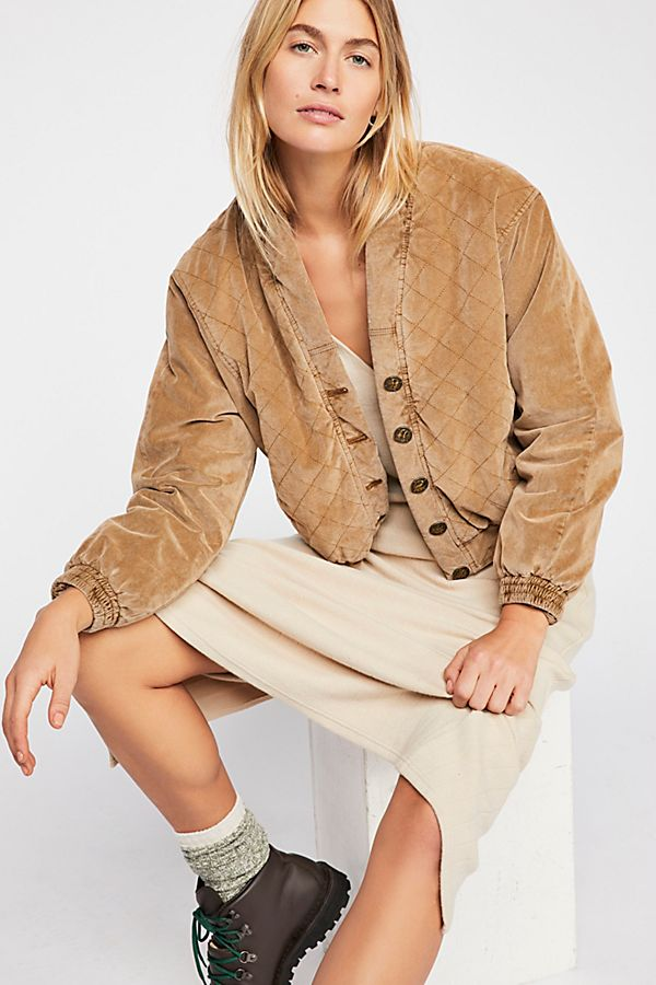 Free People Main Squeeze Jacket Gold - Room 29
