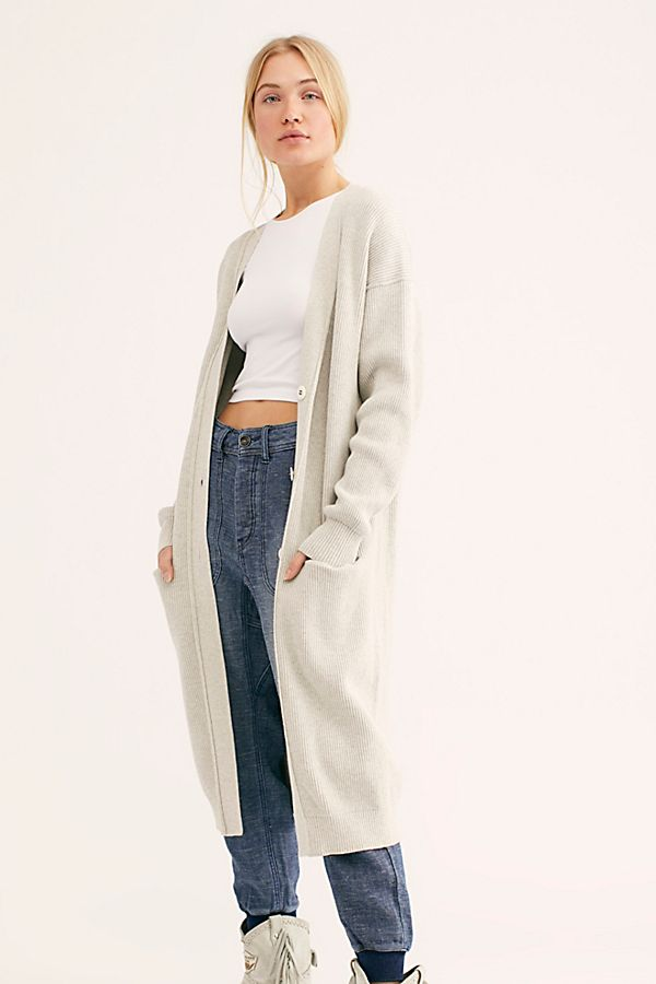 Free People Run To You Cardi Light Grey - Room 29