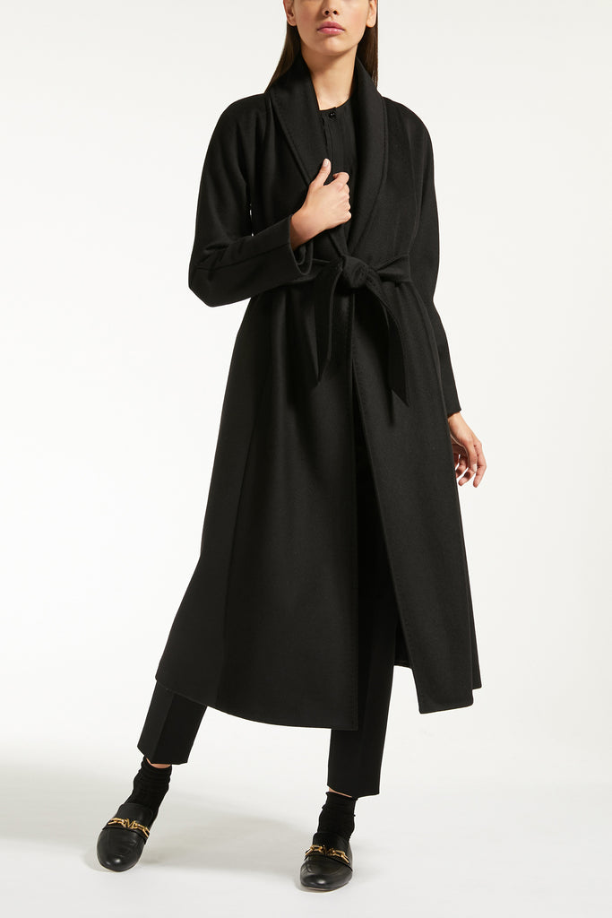 Maxmara 601614 SORBONA Wool Coat Black - Room 29