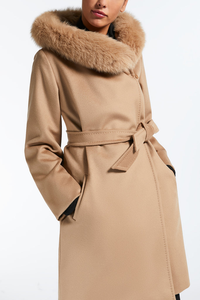 Maxmara Studio 608620 3MANGO Short Coat Camel - Room 29
