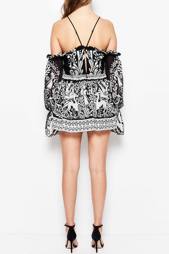 Alice McCall Oh Deer Me Dress Black - Room 29