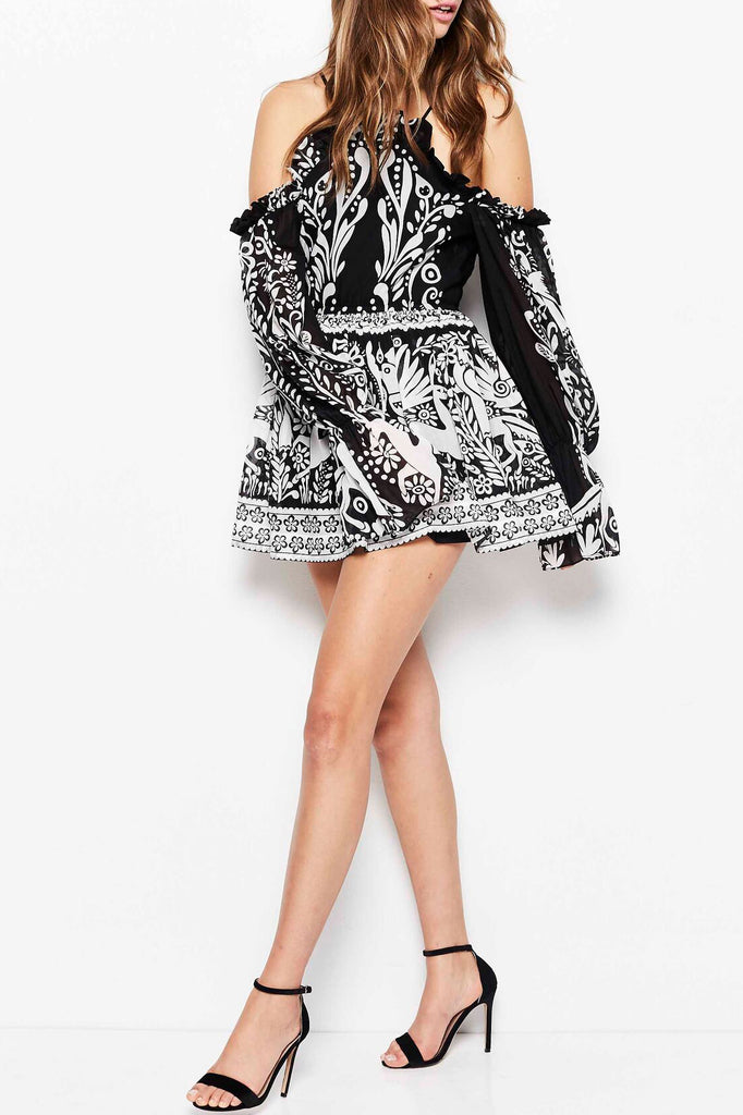 Alice McCall Oh Deer Me Dress Black Deer - Room 29