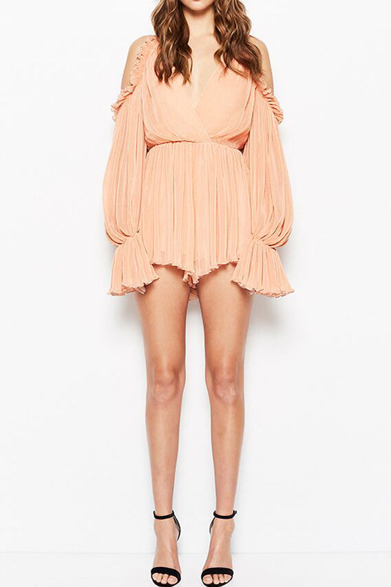 a297405f447 Alice McCall Shake for Me Playsuit Apricot