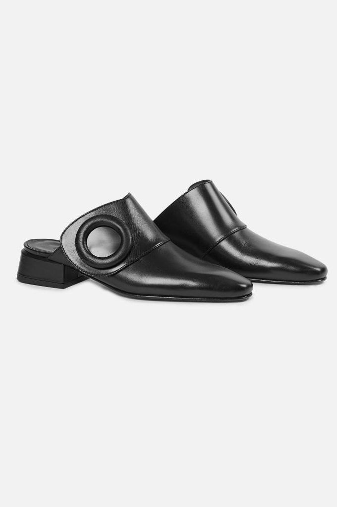 Boyy Scarpe Yeuxlet Mule Shoes Black - Room 29