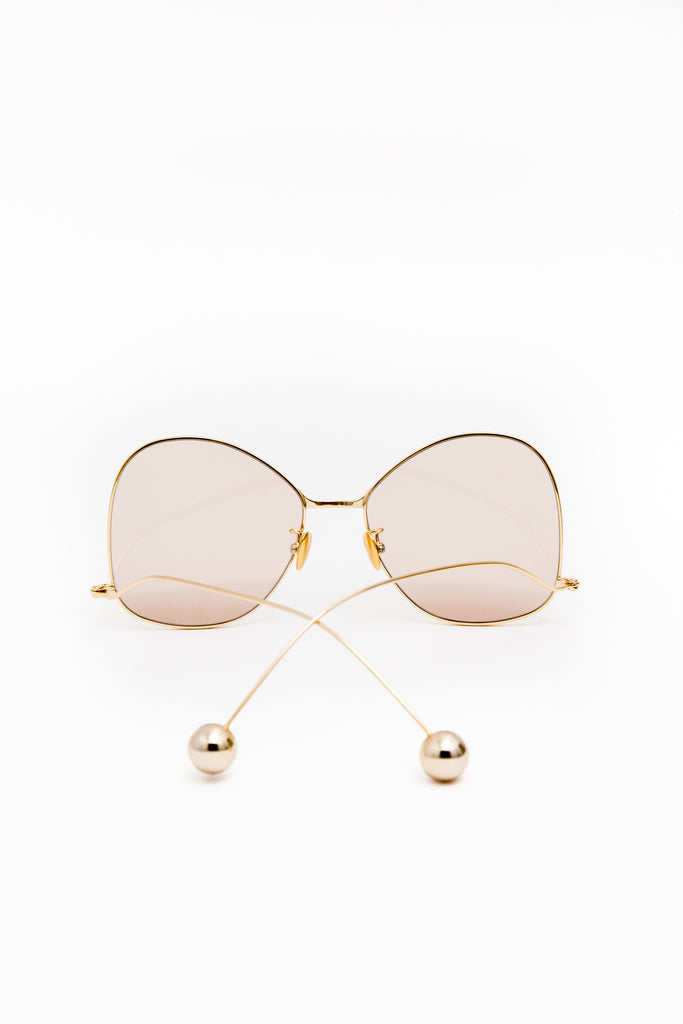 JINNNN Gold Tinted Brown Optical Glasses - Room 29