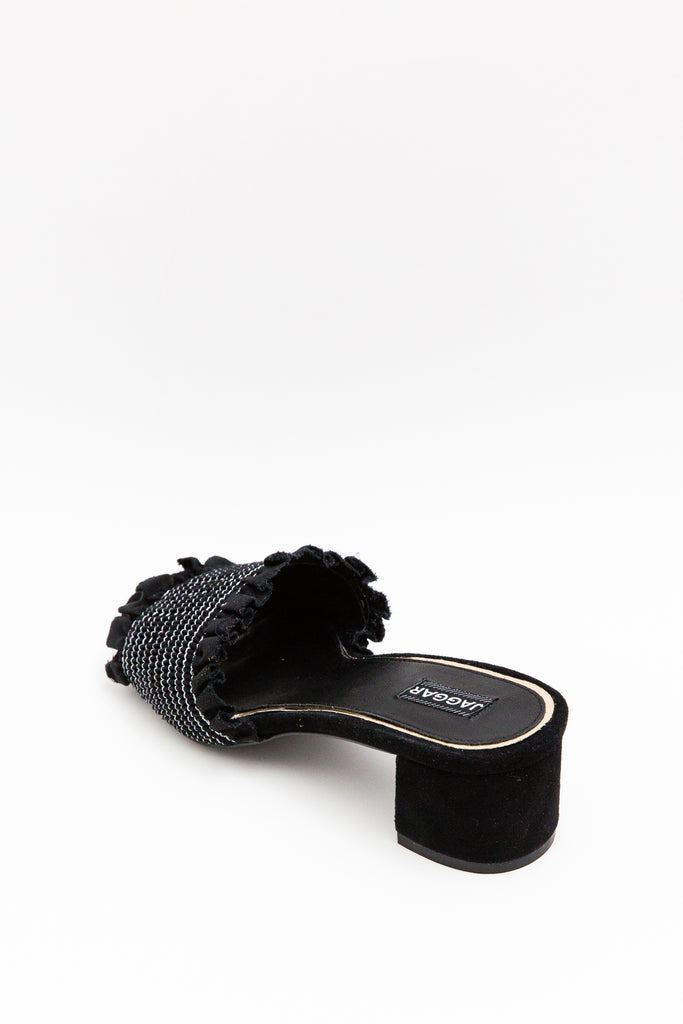 Jaggar Stitched Block Heel Black - Room 29