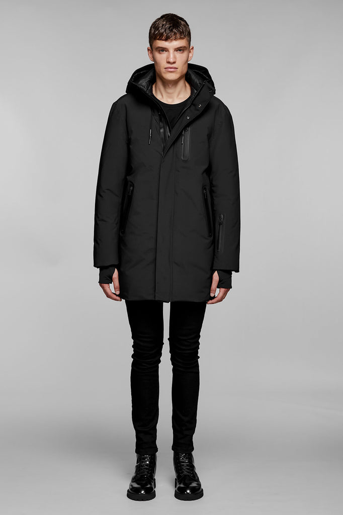 Mackage Chano Men Hooded Down Coat Black - Room 29