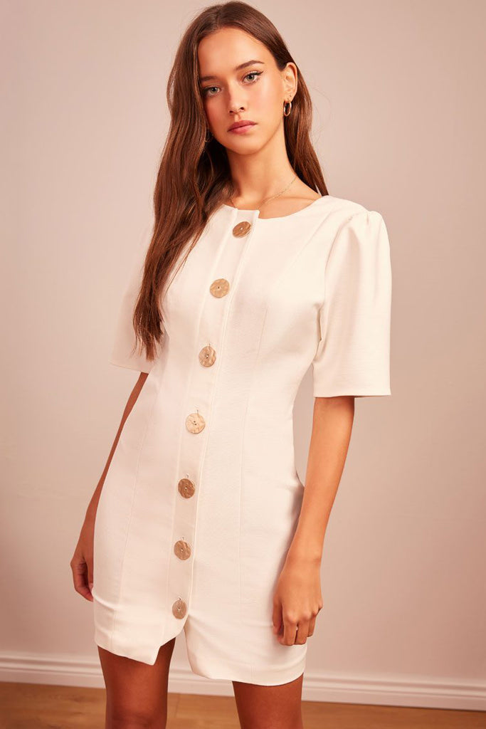 Finders Keepers Pompeii Mini Dress Ivory - Room 29