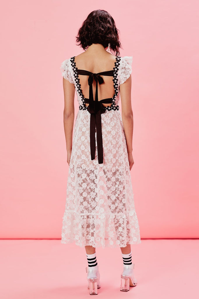 For Love & Lemons Isabel Embroidered Midi Dress - Room 29